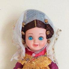 Bonecas Espanholas Modernas: MUÑECA CHARRA DE 18 CMTS CON CABEZA DE CELULOIDE .DEFECTOS LEER DESCRIPCION Y VER FOTOS. Lote 202352942