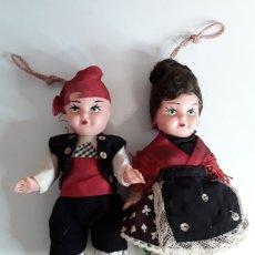Muñecas Españolas Modernas: PAREJA DE BATURROS EN CELULOIDE AÑOS 70. Lote 203578061