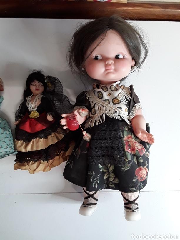 Muñecas Españolas Modernas: Lote de 4 muñecas 3 de ellas en celuloide y 1 con ojos durmientes - Foto 2 - 203588701