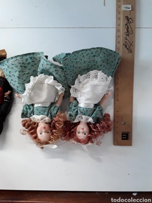 Muñecas Españolas Modernas: Lote de 4 muñecas 3 de ellas en celuloide y 1 con ojos durmientes - Foto 4 - 203588701
