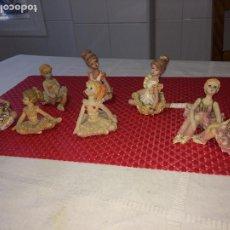 Muñecas Españolas Modernas: MUÑECAS BALLET RESINA - LOTE DE 8 MUÑECAS - EN POSICIÓN SENTADAS. Lote 204348541