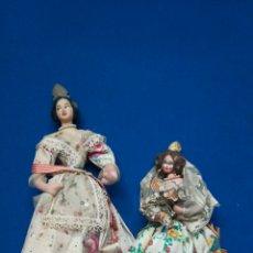 Muñecas Españolas Modernas: LOTE DE 2 ANTIGUAS MUÑECAS FALLERAS. Lote 204988483