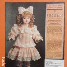 Muñecas Españolas Modernas: PUBLICIDAD 1994 - EL BEBE JUMEAU - TAMAÑO 22,5 X 30 CM. Lote 205782115