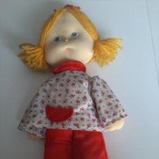 Muñecas Españolas Modernas: MUÑECA DE TRAPO DE LOS AÑOS 80. Lote 206858385