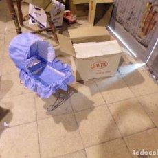 Muñecas Españolas Modernas: CUNA MECEDORA MUÑECA MARCA DAYPA CON SU CAJA NUEVA DE TIENDA VINTAGE SIN ESTRENAR. Lote 206994170