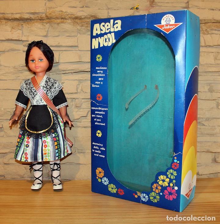Muñecas Españolas Modernas: ANTIGUA MUÑECA ASELA NICOL, DE JUBER - NUEVA Y EN SU CAJA ORIGINAL - A ESTRENAR - 48cm - Foto 3 - 207197720