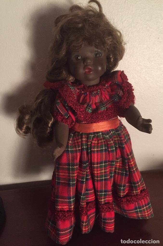 Muñecas Españolas Modernas: Preciosa muñeca negrita toda de terracota 30cm años setanta - Foto 9 - 185699350