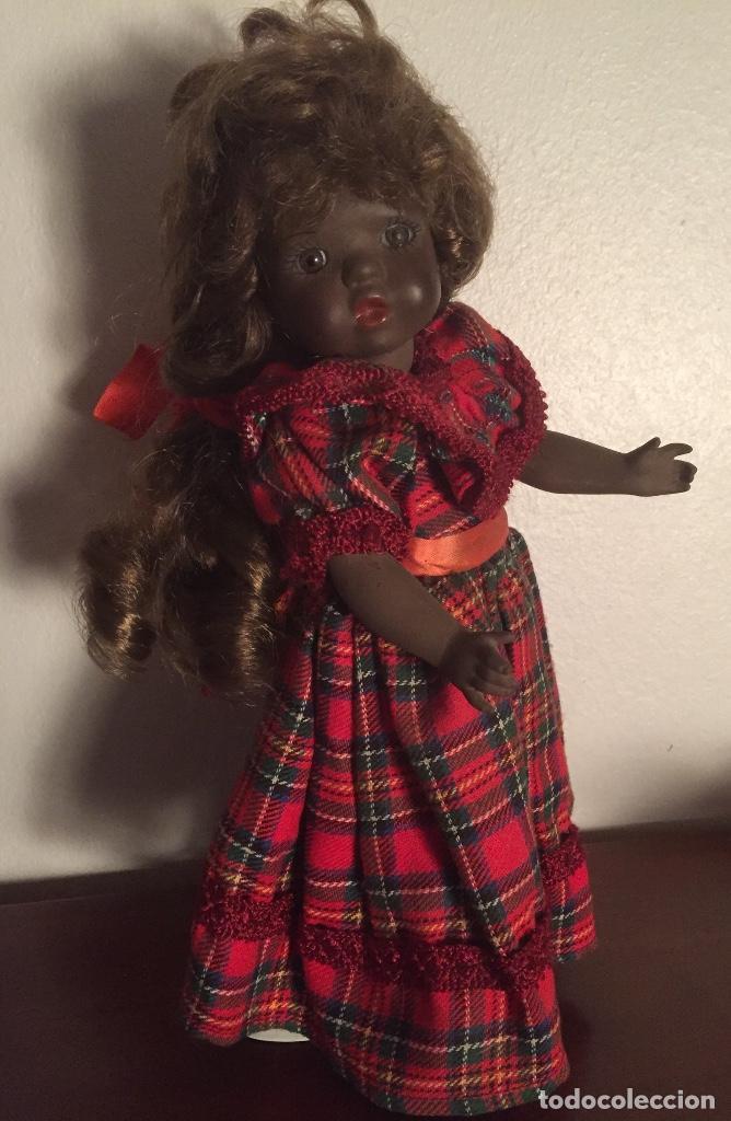 Muñecas Españolas Modernas: Preciosa muñeca negrita toda de terracota 30cm años setanta - Foto 11 - 185699350