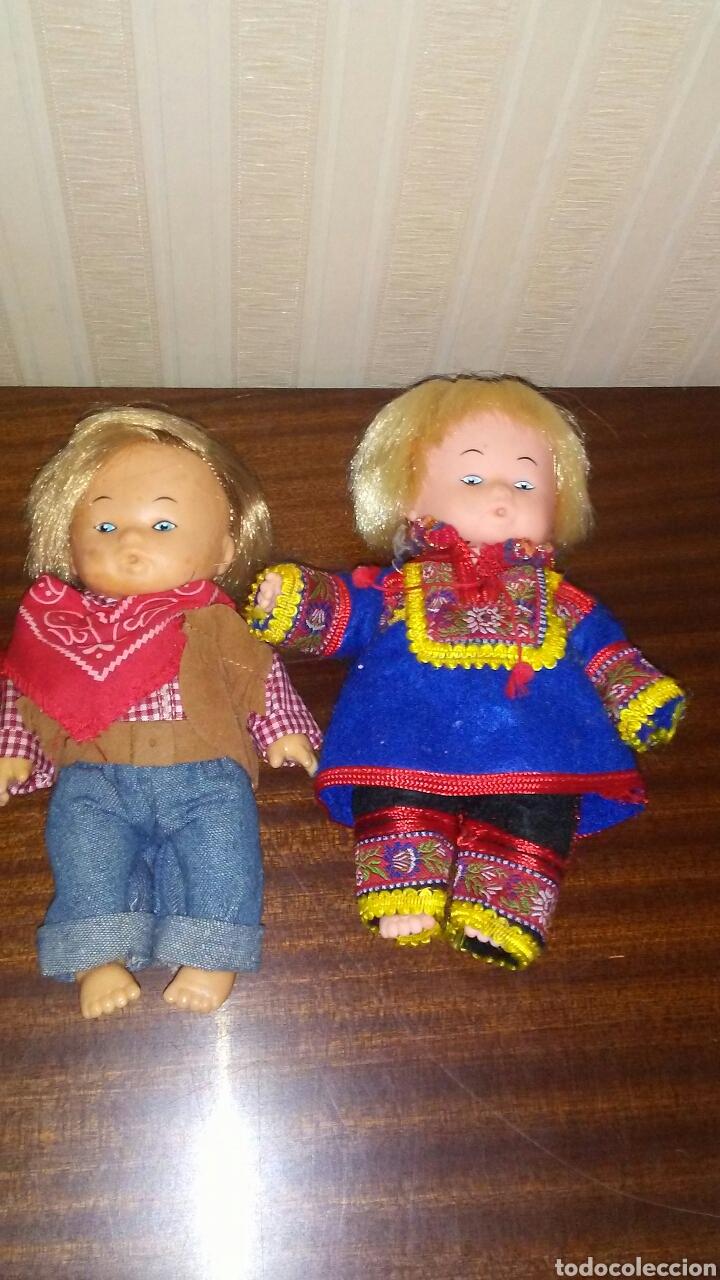 Muñecas Españolas Modernas: Lote 2 muñecos creo que marca Mariquita Perez ,no es seguro ,miden 17 cent,son un resto de jugueteri - Foto 2 - 209387215