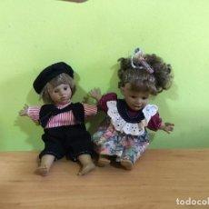 Muñecas Españolas Modernas: PAREJA DE MUÑECOS DE CARÁCTER BERENGUER. Lote 209777382
