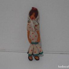 Muñecas Españolas Modernas: MUÑECA FIELTRO, VESTIDA DE FLAMENCA, 15CM, AÑOS 70. Lote 212623756