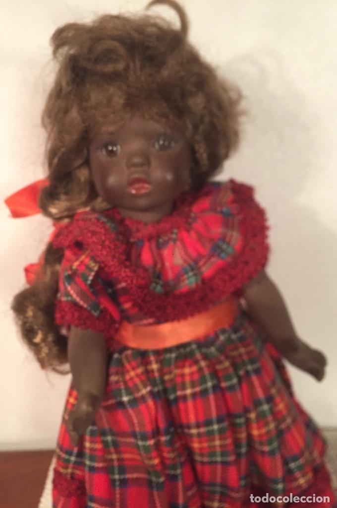 Muñecas Españolas Modernas: Preciosa muñeca negrita toda de terracota 30cm años setanta - Foto 12 - 185699350