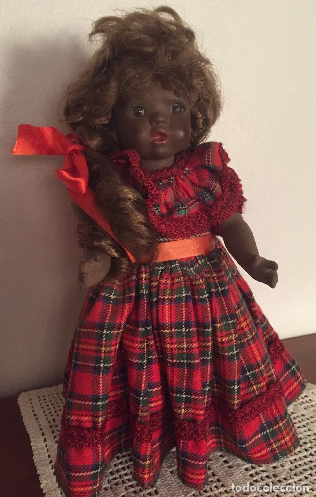 Muñecas Españolas Modernas: Preciosa muñeca negrita toda de terracota 30cm años setanta - Foto 13 - 185699350