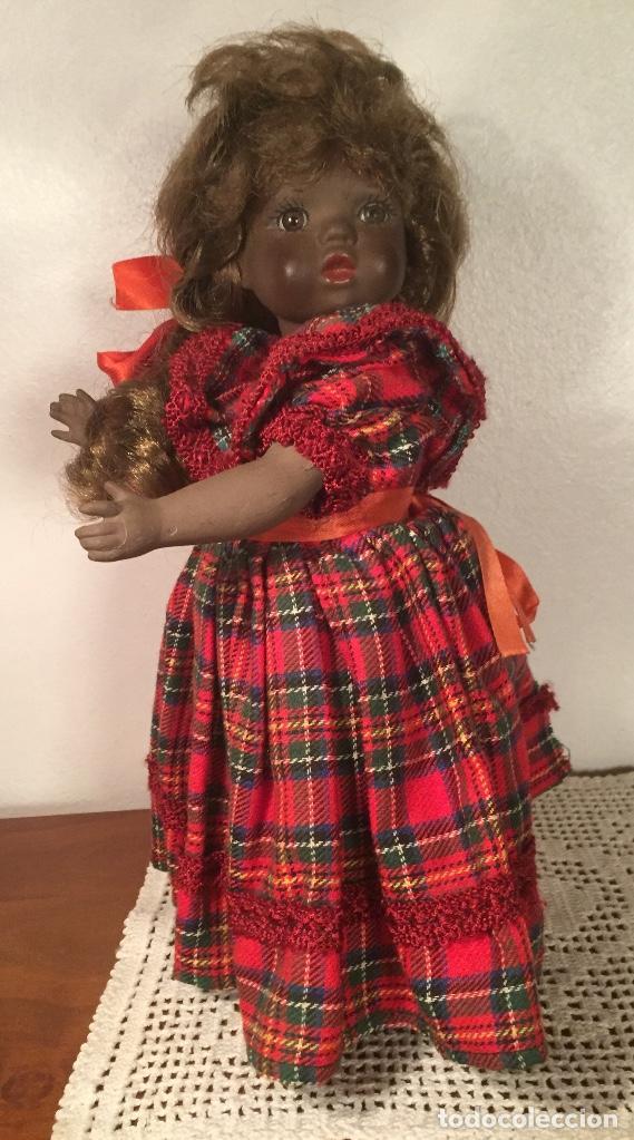 Muñecas Españolas Modernas: Preciosa muñeca negrita toda de terracota 30cm años setanta - Foto 14 - 185699350