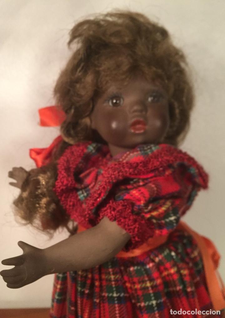 Muñecas Españolas Modernas: Preciosa muñeca negrita toda de terracota 30cm años setanta - Foto 15 - 185699350