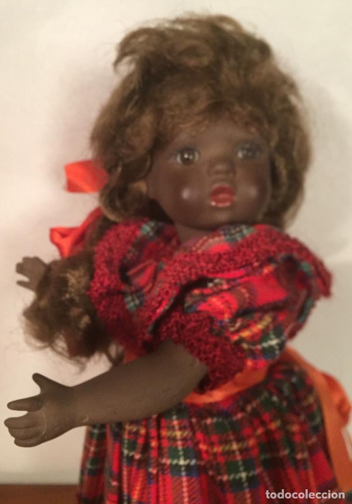 Muñecas Españolas Modernas: Preciosa muñeca negrita toda de terracota 30cm años setanta - Foto 16 - 185699350