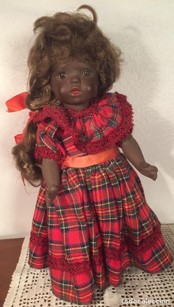 Muñecas Españolas Modernas: Preciosa muñeca negrita toda de terracota 30cm años setanta - Foto 18 - 185699350