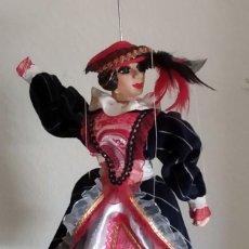 Muñecas Españolas Modernas: MARIONETA DE DAMA CON SOMBRERO DE PLUMAS, DESCONOZCO LA ÈPOCA. Lote 215446728