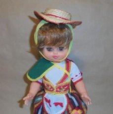 Muñecas Españolas Modernas: MUÑECA REGIONAL CANARIA - AÑOS 60/70 - CANARIAS - TÍPICA - SOUVENIR. Lote 218206298