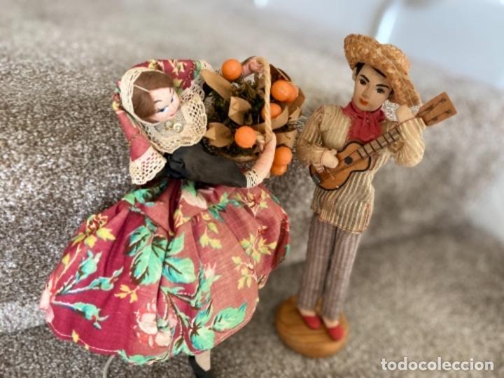 Muñecas Españolas Modernas: Muñeca Roldán fieltro y trapo valenciana y muñeco - Foto 9 - 218726947