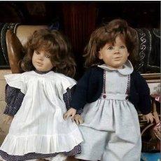 Muñecas Españolas Modernas: 2 MUÑECAS COLECCION..D 'ANTON JOS ..60 CM. Lote 218868187