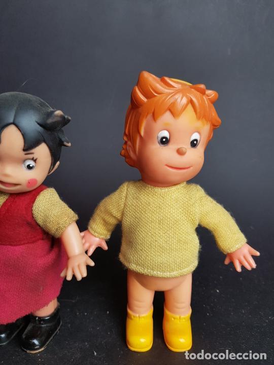 Muñecas Españolas Modernas: muñecos heidi y pedro a cuerda muñeca y muñeco - Foto 4 - 223850981