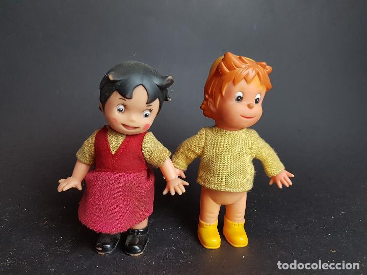 MUÑECOS HEIDI Y PEDRO A CUERDA MUÑECA Y MUÑECO (Juguetes - Otras Muñecas Españolas Modernas)