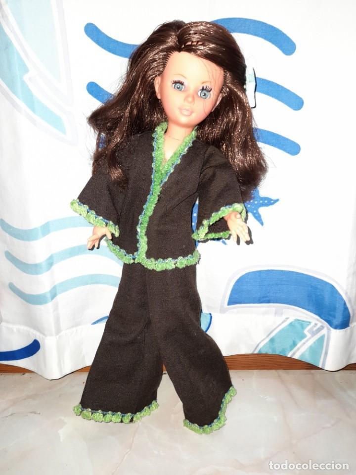 Muñecas Españolas Modernas: muñeca fanny de vicma años 70 castaña reflejos caoba oscuro en muy buen estado - Foto 2 - 224945458