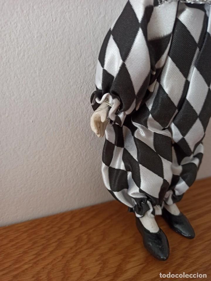 Muñecas Españolas Modernas: MUÑECO DE PORCELANA ARLEQUIN - Foto 3 - 244853960