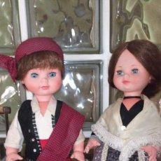 """Muñecas Españolas Modernas: ANTIGUA PAREJA DE MUÑECOS """"BATURROS"""" ORIGINAL AÑOS 70 DE TOYSE TRAJE ARAGONES. Lote 245439175"""