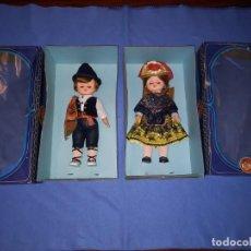 Muñecas Españolas Modernas: PAREJA REGIONAL ANTIGUA MARCA FOLK ARTESANÍA. Lote 252368850