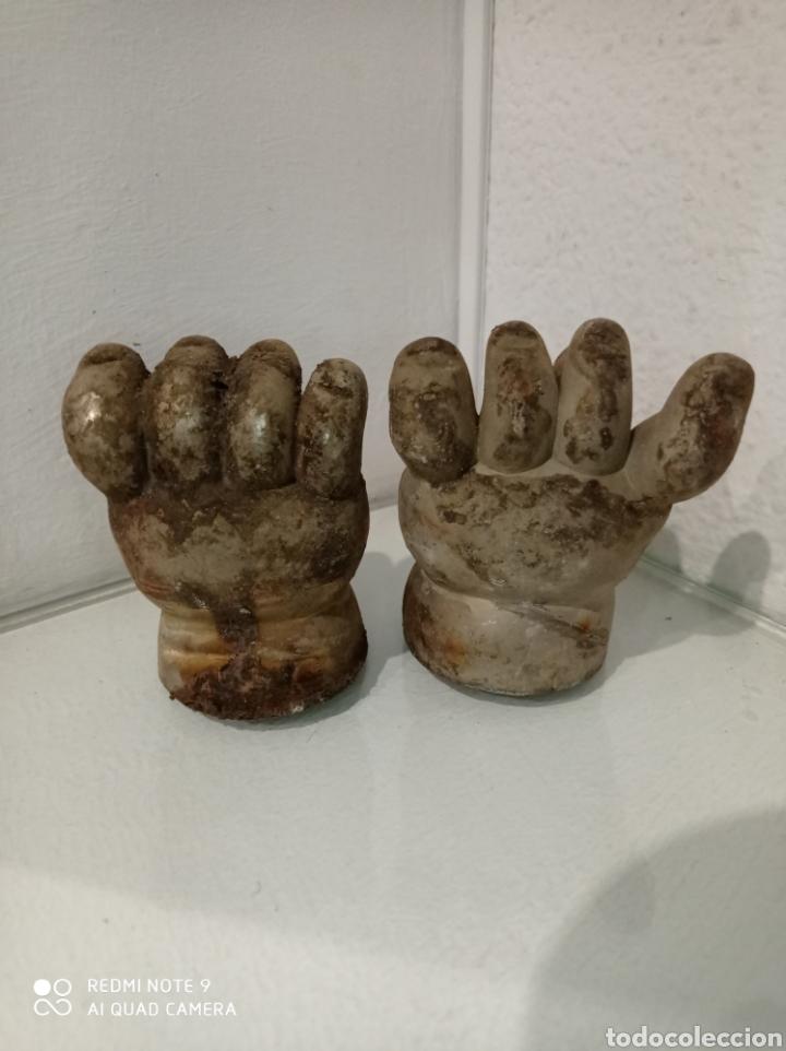 Muñecas Españolas Modernas: Antiguo molde de níquel de manos de muñeca pocas pecas de Feber, Famosa. año 1992. - Foto 3 - 252562815