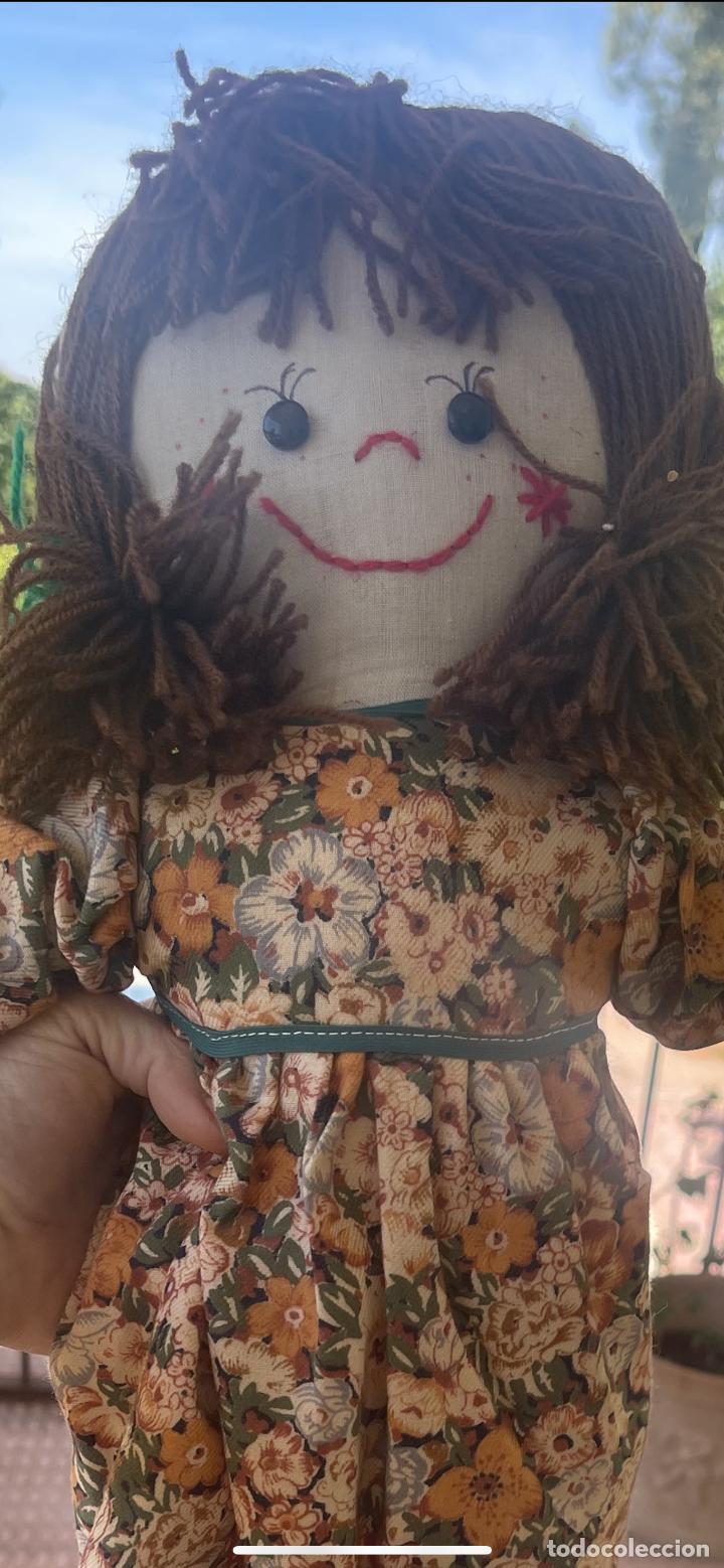Muñecas Españolas Modernas: Antigua muñeca de trapo 59 Cm polo los artesana ver fotos - Foto 2 - 263691250