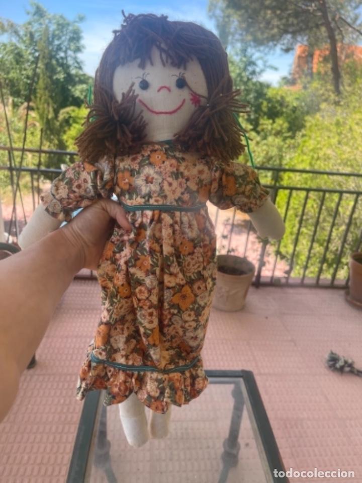 Muñecas Españolas Modernas: Antigua muñeca de trapo 59 Cm polo los artesana ver fotos - Foto 3 - 263691250