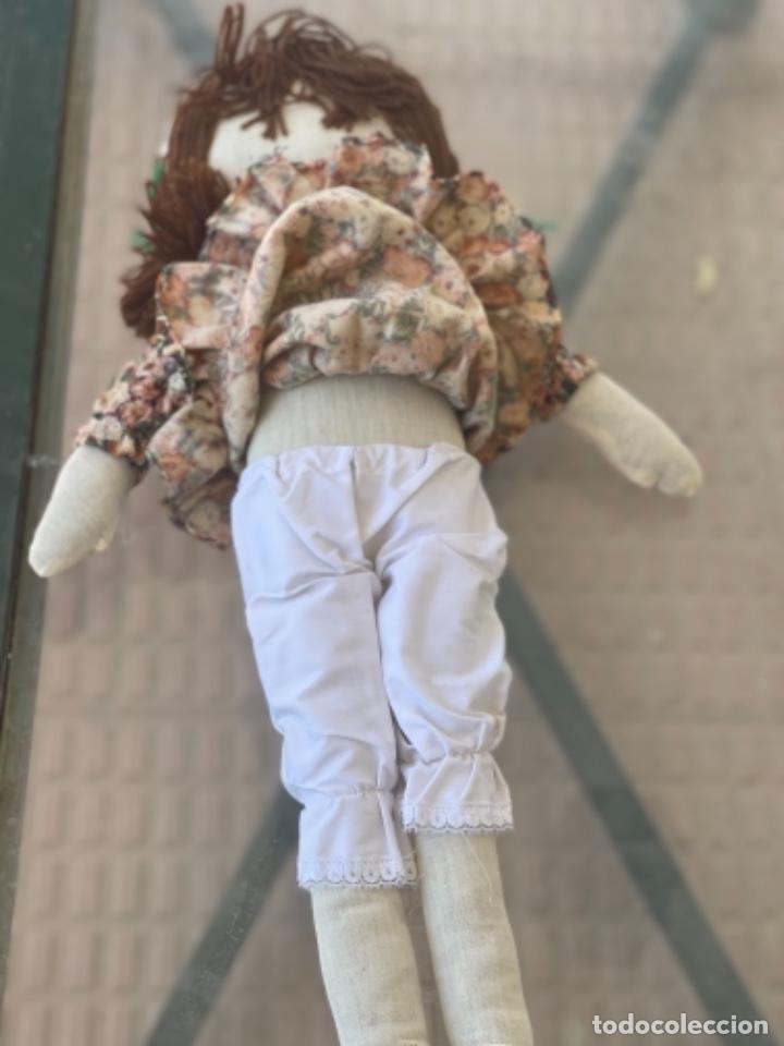 Muñecas Españolas Modernas: Antigua muñeca de trapo 59 Cm polo los artesana ver fotos - Foto 5 - 263691250