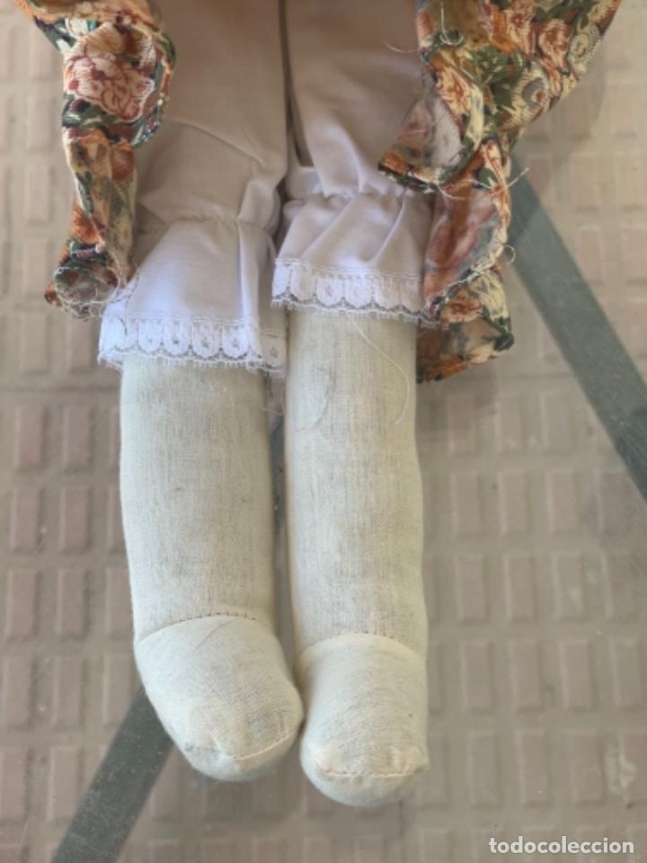 Muñecas Españolas Modernas: Antigua muñeca de trapo 59 Cm polo los artesana ver fotos - Foto 8 - 263691250