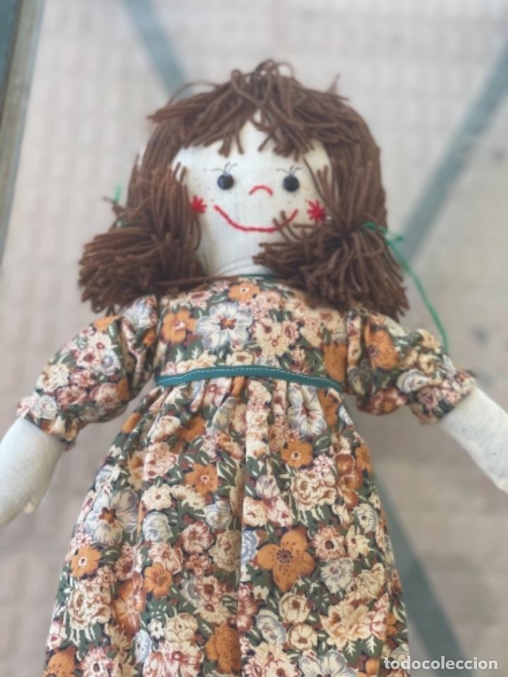 Muñecas Españolas Modernas: Antigua muñeca de trapo 59 Cm polo los artesana ver fotos - Foto 9 - 263691250