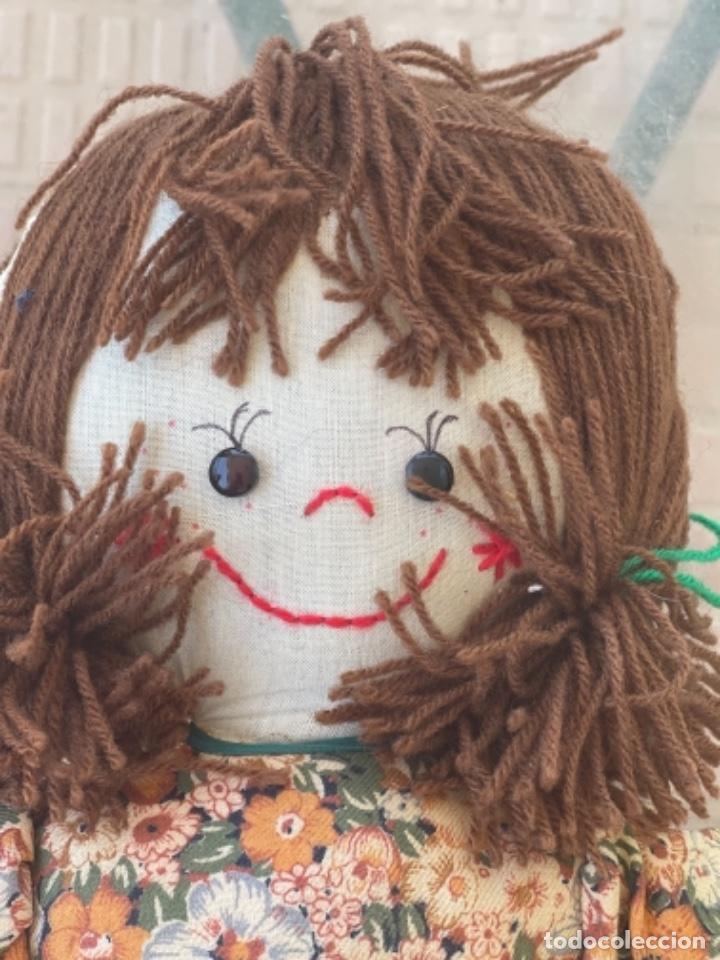 Muñecas Españolas Modernas: Antigua muñeca de trapo 59 Cm polo los artesana ver fotos - Foto 10 - 263691250