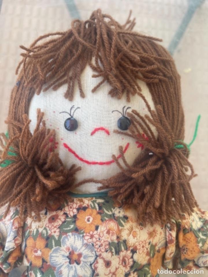 Muñecas Españolas Modernas: Antigua muñeca de trapo 59 Cm polo los artesana ver fotos - Foto 11 - 263691250