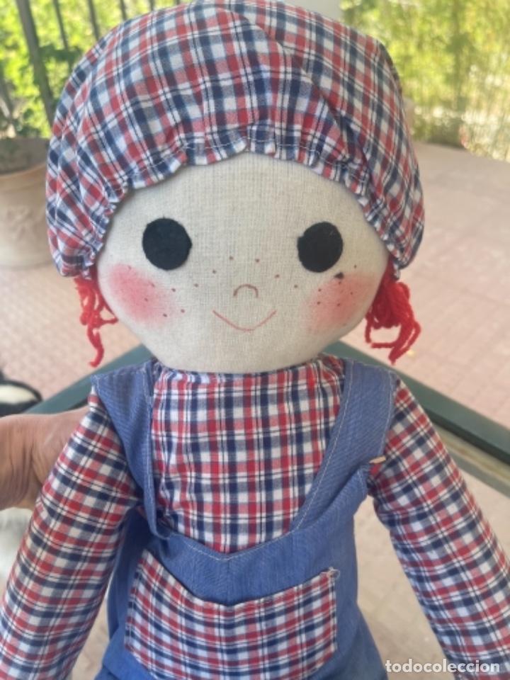 Muñecas Españolas Modernas: Antigua muñeca de trapo excelente estado 72 Cm ver fotos - Foto 2 - 263691700
