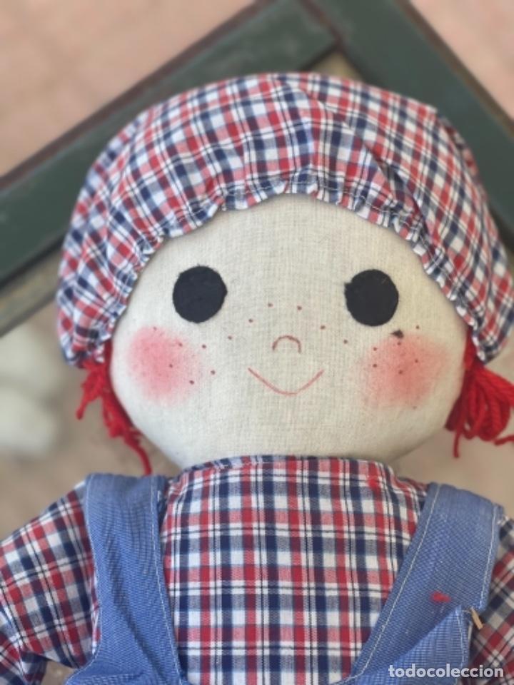 Muñecas Españolas Modernas: Antigua muñeca de trapo excelente estado 72 Cm ver fotos - Foto 3 - 263691700
