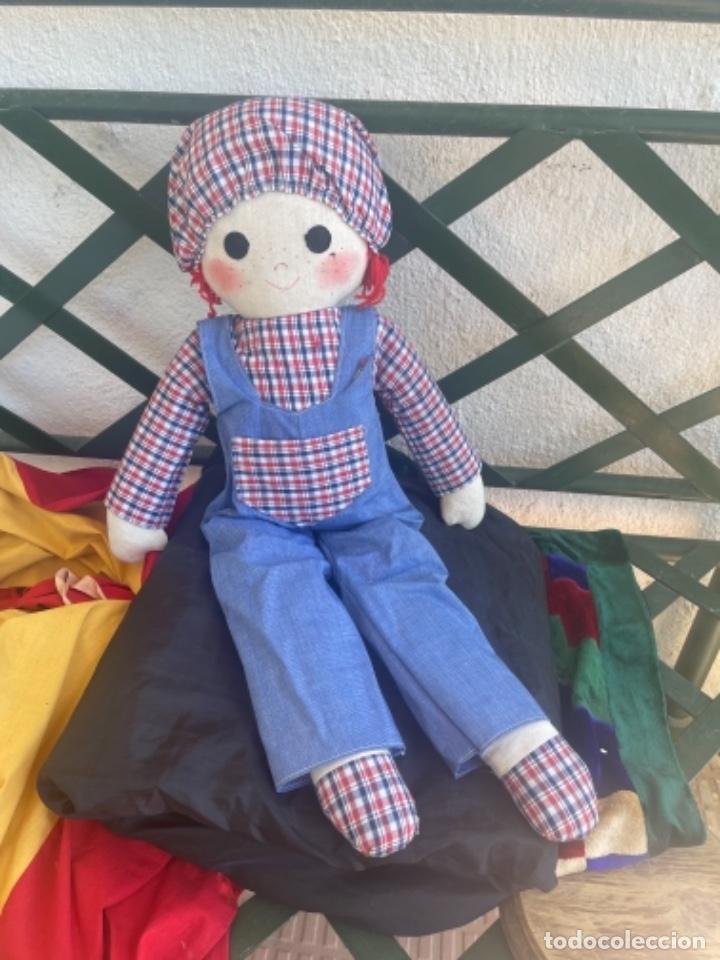 Muñecas Españolas Modernas: Antigua muñeca de trapo excelente estado 72 Cm ver fotos - Foto 4 - 263691700