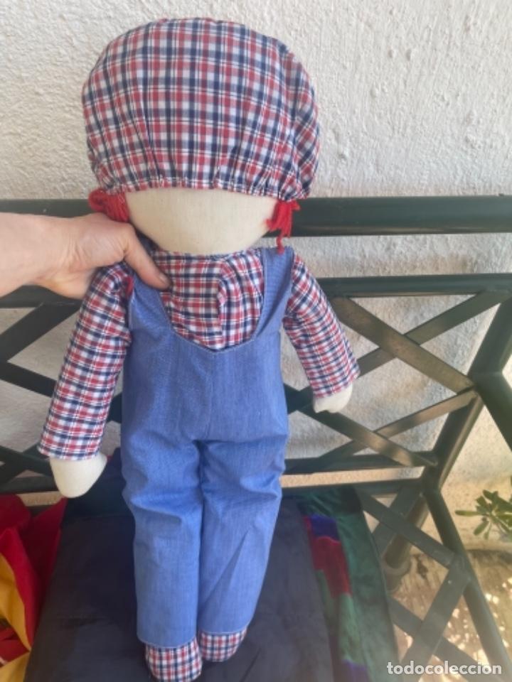 Muñecas Españolas Modernas: Antigua muñeca de trapo excelente estado 72 Cm ver fotos - Foto 7 - 263691700