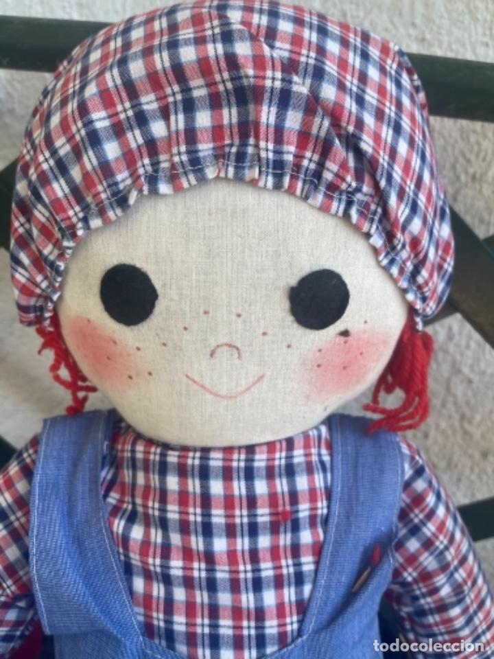 Muñecas Españolas Modernas: Antigua muñeca de trapo excelente estado 72 Cm ver fotos - Foto 10 - 263691700