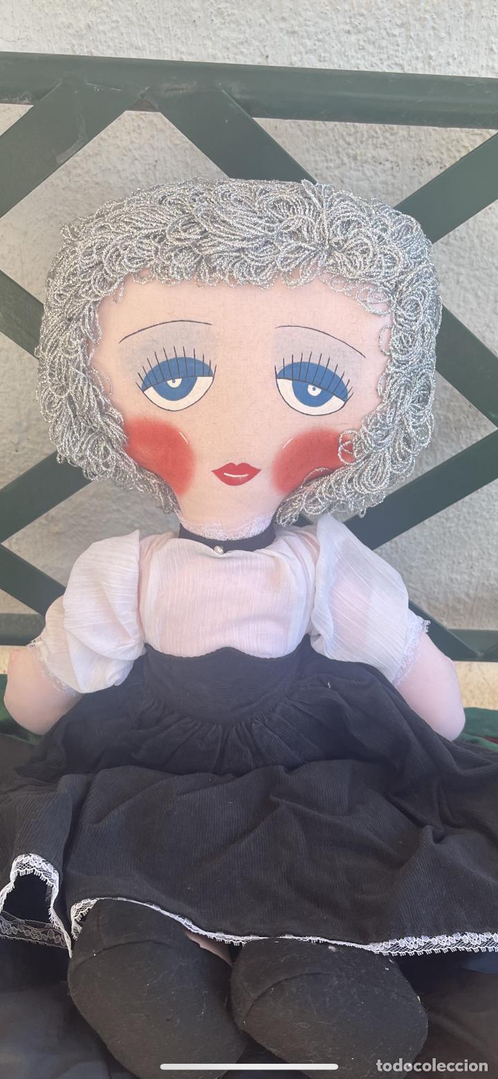 Muñecas Españolas Modernas: Muñeca estilo art Deco años 20 pelo plata ver fotos muñeca blanda cabaret - Foto 3 - 264042795