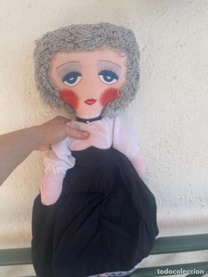 Muñecas Españolas Modernas: Muñeca estilo art Deco años 20 pelo plata ver fotos muñeca blanda cabaret - Foto 10 - 264042795