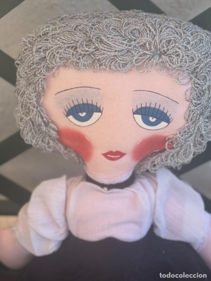 Muñecas Españolas Modernas: Muñeca estilo art Deco años 20 pelo plata ver fotos muñeca blanda cabaret - Foto 13 - 264042795