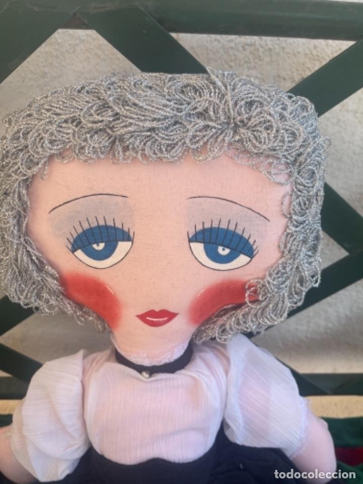 Muñecas Españolas Modernas: Muñeca estilo art Deco años 20 pelo plata ver fotos muñeca blanda cabaret - Foto 14 - 264042795