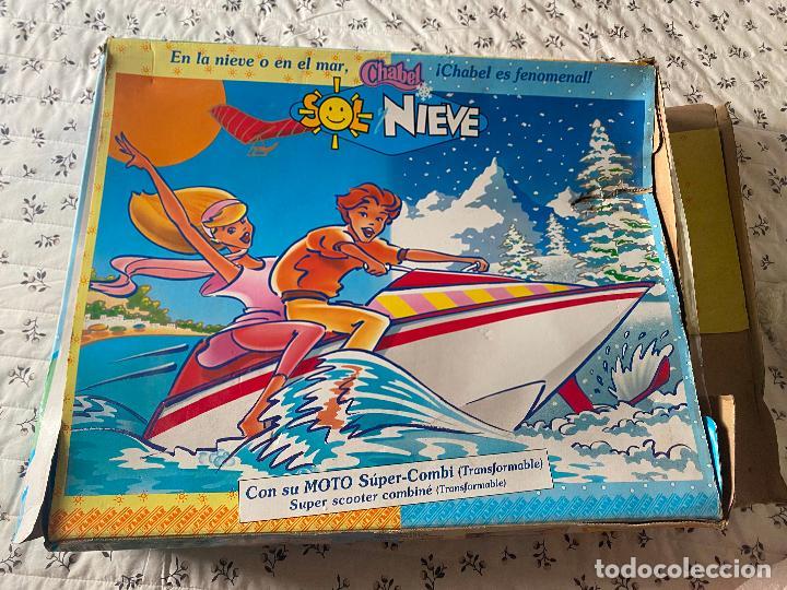 Muñecas Españolas Modernas: Chabel y Danny Sol y Nieve Conjunto Set con moto acuática – trineo 1989 Feber Nuevo en caja - Foto 2 - 278693158