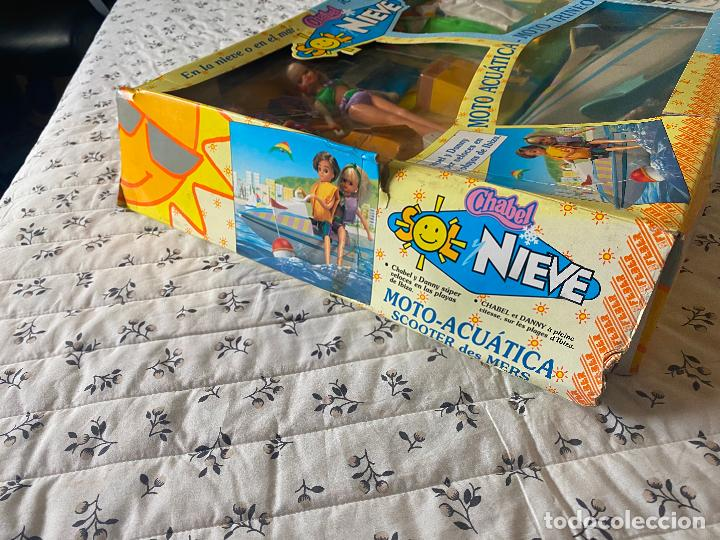 Muñecas Españolas Modernas: Chabel y Danny Sol y Nieve Conjunto Set con moto acuática – trineo 1989 Feber Nuevo en caja - Foto 3 - 278693158